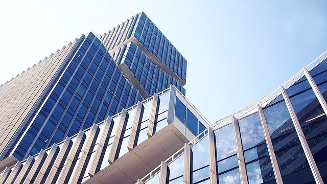 An office building symbolizing a summer maintenance checklist for commercial buildings
