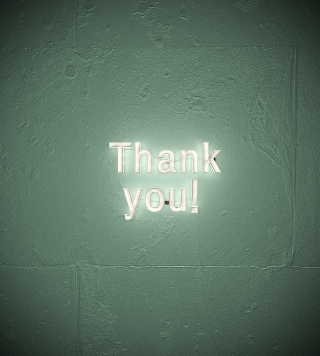 Sign that says thank you might encourage your employees to keep the workplace clean